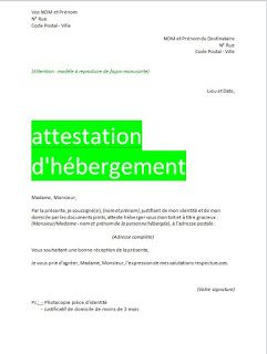 Attestation D Hebergement Format Word In 2019 Word Doc Words