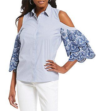 d36a45aacee Gibson   Latimer Embroidered Sleeve Button Down Shirt