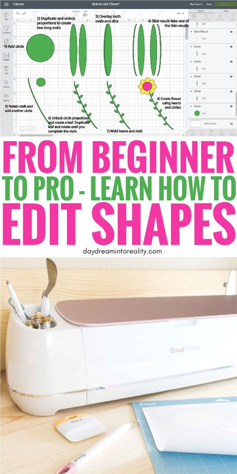 Edit Shapes in Cricut Design Space - Cut Out Text | Make words into Shapes