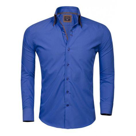 Arya Boy Overhemd.Arya Boy Heren Overhemd Royal Blauw Modedam Nl Heren Overhemden