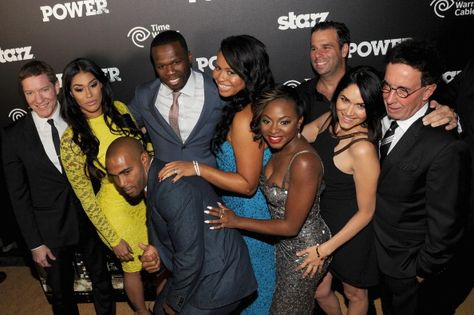 """Power - Starz TV Series - The cast and producers of """"Power"""" attend the 'Starz Power' premiere after party at Highline Ballroom on June 2, 2014 in New York City. (Photo by Bryan Bedder/Getty Images for Starz)  gettyimages.com"""