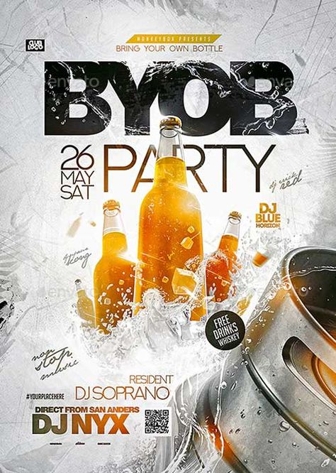 Download the BYOB Party Club Flyer Template - PSD | FFFLYER