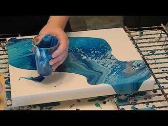How To Make Fluid Art Ocean Floor Scene With Acrylic Paint