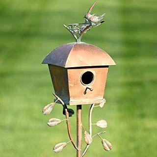 Amazon Com Dress The Yard 10 Hole Copper Roof Wooden Condo Birdhouse Garden Outdoor Bird Houses Copper Roof Bird House Plans Free