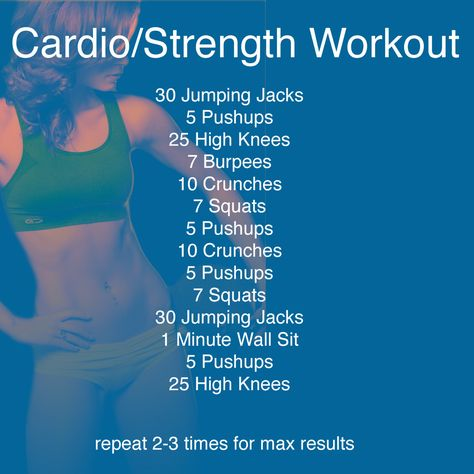 Cardio workout...good if you wanna get something quick in at home!