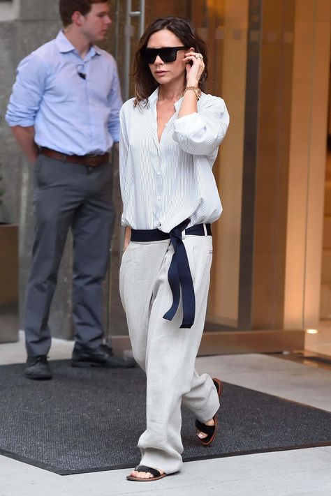 Laid back but pulled together. Here's what Sunday looks like with Victoria Beckham.