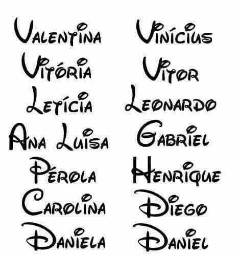 15 Letras de nombres