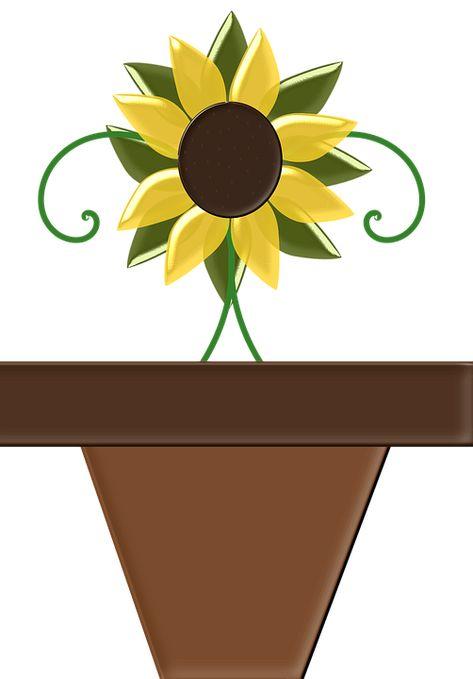 Gambar Kartun Bunga Matahari Hitam Putih Pot Bunga Bunga Bunga