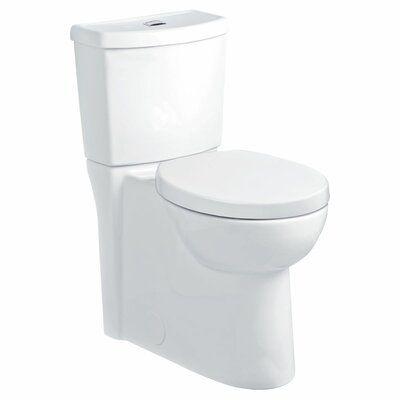 American Standard Studio Dual Flush Round Two Piece Toilet Seat Included Dual Flush Toilet Toilet Tall Toilets