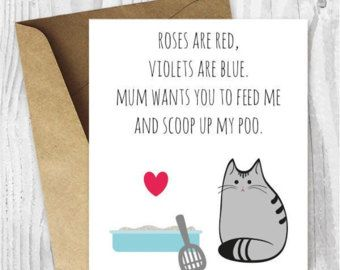 Diy For Him Birthday Card Printable For Dad Uk Funny Cat Birthday Card For Husband For Boyfri Cat Birthday Cards Funny Cat Birthday Card Valentine Love Cards