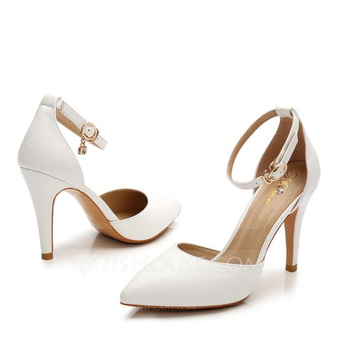f6fe68493ab Women s Patent Leather Stiletto Heel Sandals Closed Toe With Rhinestone  Buckle shoes