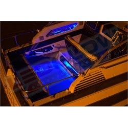 Blue Marine Boat LED Lighting is designed to add a solid blue illumination to your boat's deck or interior cabin to add visibility on the water at night, as well as a unique glow to your boat.