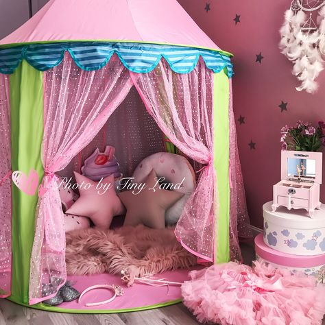 Details about Princess Pop Up Play Tent Girls Pink Teepee