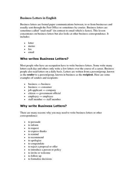 sample letter writing english format letters how write business - proof of employment template