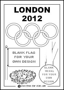 olympic rings coloring pages kids design their own flags and medals