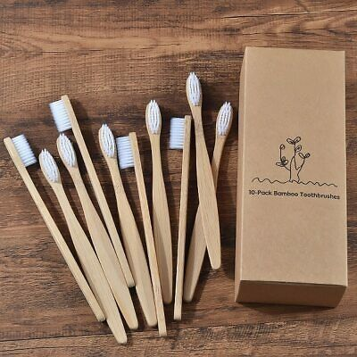 New design mixed color bamboo toothbrush Eco Friendly wooden Tooth Brush Soft br