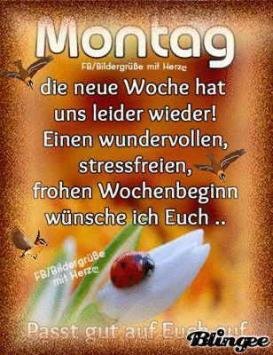Das Wünsche Ich Dir Von Herzen Montag Grüße Guten Morgen