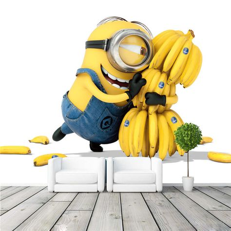 26.98US $ |Cute Minions & Bananas Wallpaper Cartoon Movie Wall Mural Customize photo wallpaper Room decor Kid Bedroom TV wall Despicable Me|photo wallpaper|custom photo wallpaperbanana wallpaper - AliExpress
