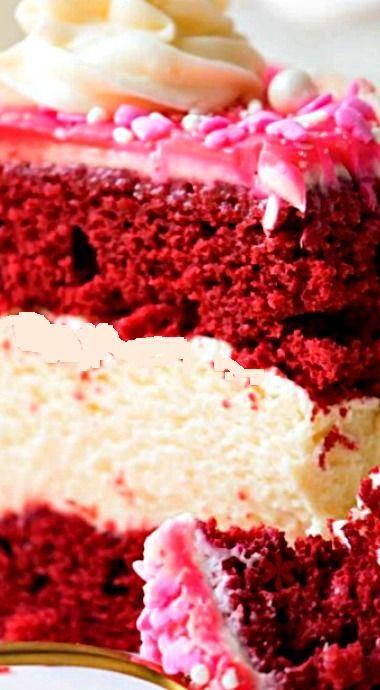 Red Velvet Cheesecake Recipe Red Velvet Cake Recipe Homemade Recipes Dessert Red Velvet Cheesecake