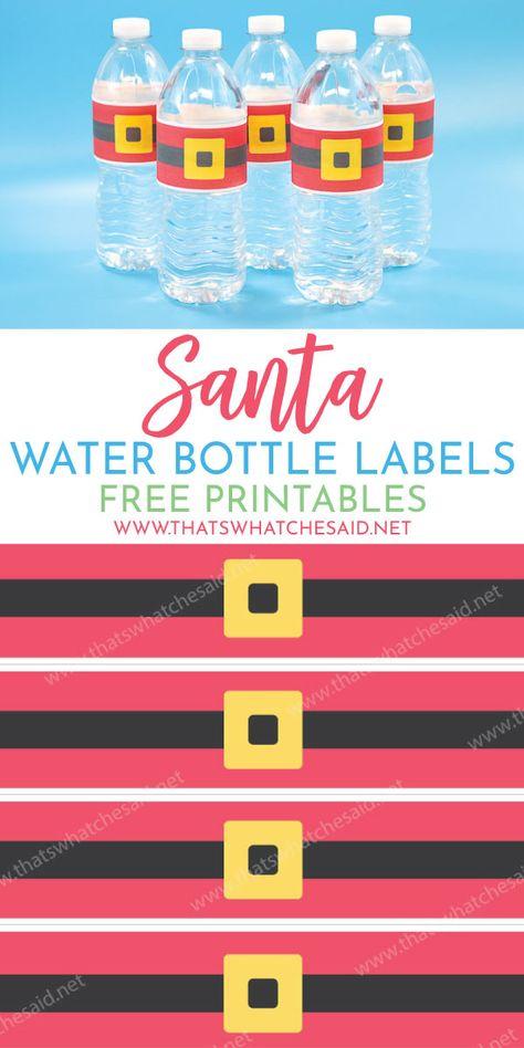 List Of Pinterest Water Bottles Labels Free Christmas Ideas Water