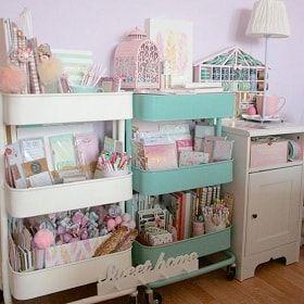 イケアraskogワゴンの使い方 ベビー キッチン 収納アイディア Lifeinfo Room Organization Craft Storage Organization Craft Room Storage