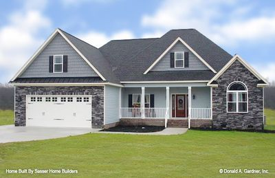 Home Plan The Carrollton By Donald A Gardner Architects Facade House Craftsman Style House Plans New House Plans
