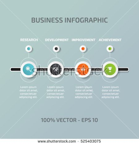 Timeline Infographic Vector Describe Process Steps Workflow