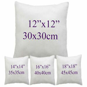 """CUSHION PADS 16 18 20 22 24 26 30/"""" HOLLOW FIBRE INNERS INSERTS FILLERS SCATTERS"""
