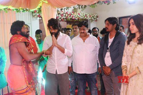 Vijay Deverakonda And Raashi Khanna Stills From Ganesh Visarjan Celebrations At Asian Group Office