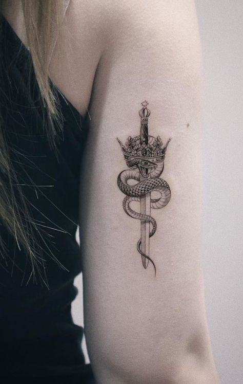 Insanely Crazy Black & Gray Tattoos That Are Truly Inspiring - TheTatt Zipin Tattoo is an awesome tattoo artist, located in Seoul, Korea. Here is Insanely Crazy Black & Gray Tattoos That Are Truly Inspiring by … Weird Tattoos, Mini Tattoos, Body Art Tattoos, Small Tattoos, Tattoos For Guys, Sword Tattoos For Women, Insane Tattoos, Amazing Tattoos, Tatoos