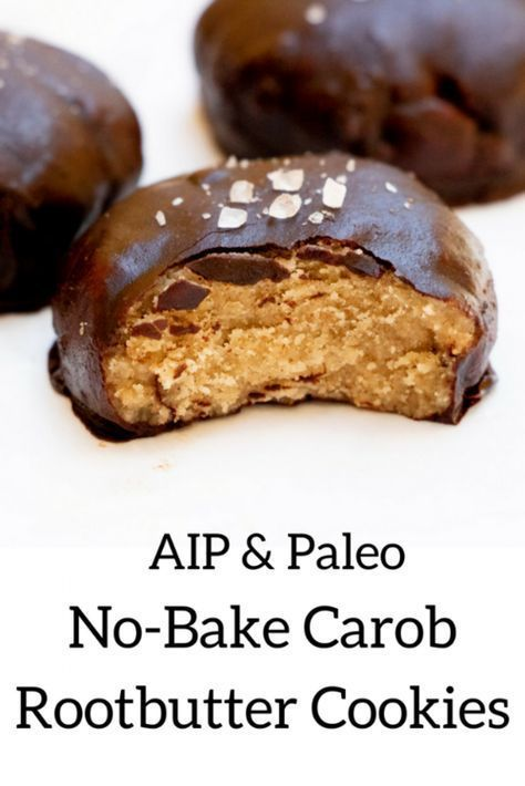 Aip No Bake Carob Rootbutter Cookies Aip Desserts Aip Cookies