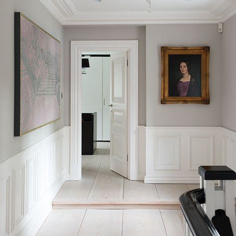 Off-white floral hallway Traditional decorating, Traditional and - wohnideen small corridor