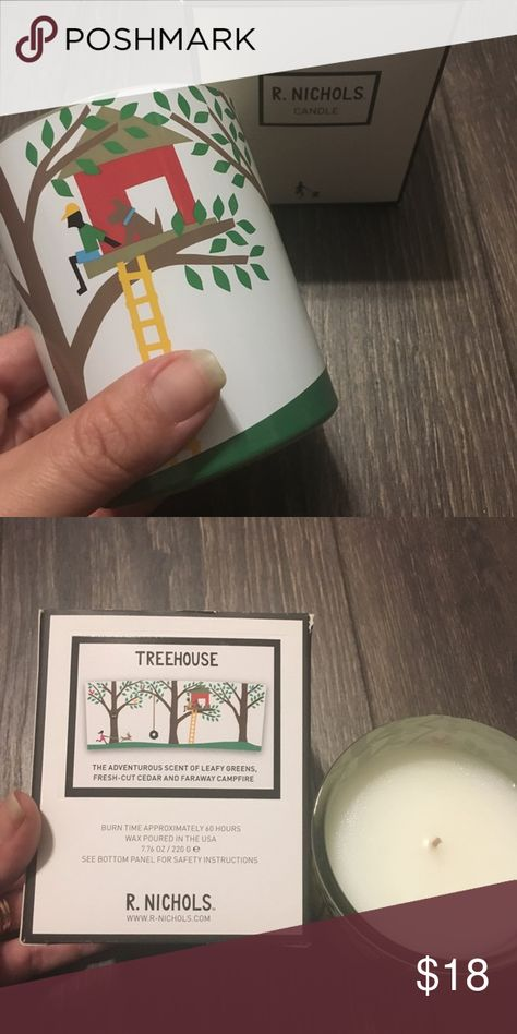 R. Nichols Tree House Candle Unique fun Candle The adventurous scent of leafy greens, fresh cut cedar, and faraway campfire R. Nichols Accents Candles & Holders
