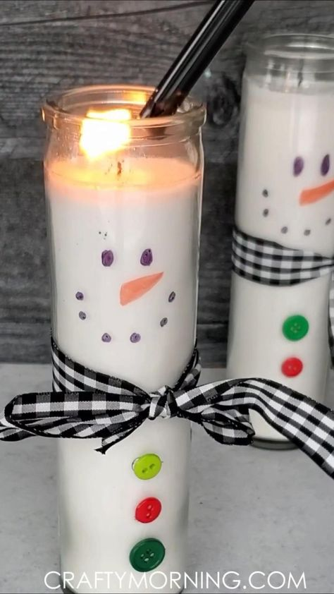 Reversible Dollar Tree Candles (Ghost & Snowman)
