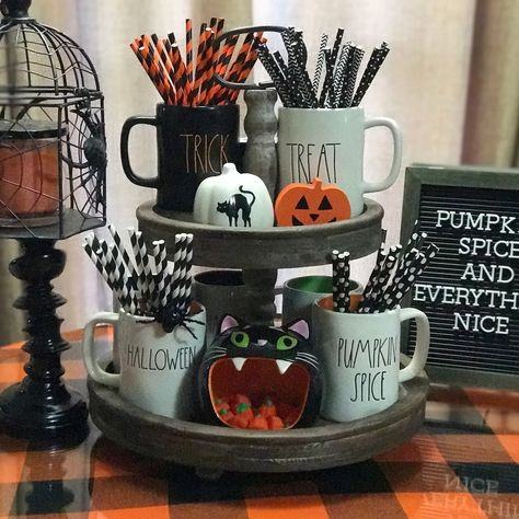 Rae Dunn Halloween Tiered Tray Country Halloween Decor Fall Halloween Decor Tiered Tray Decor