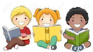Resultado De Imagem Para Menino E Menina Lendo Desenho Criancas