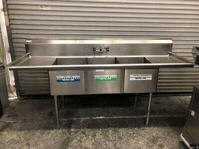 Ad Ebay 3 Compartment Sink 18 X 24 Basin Dish Wash Gsw Sh18243d Triple Tub 2795 With Images Basin Utility Room Sinks Tub