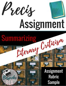 Preci Assignment For Literary Criticism And Research Writing Difference Between Paraphrase Summary