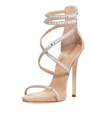 Giuseppe Zanotti for Jennifer Lopez Coline Suede and Crystal