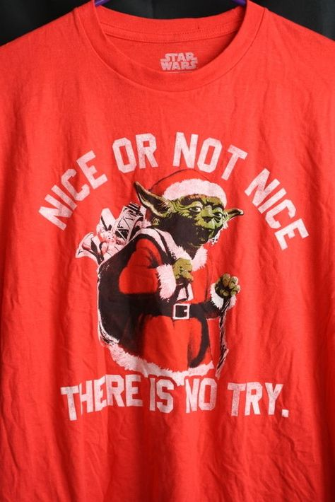 Star Wars Yoda Santa 'ELF, I AM NOT' Distressed Style