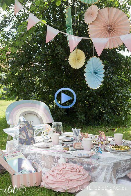 Feenparty Fur Kinder Zum 4 Geburtstag Ich Liebe Deko Spielekindergeburtstag In 2020 Feengeburtstag Fee Geburtstag Gartengeburtstag