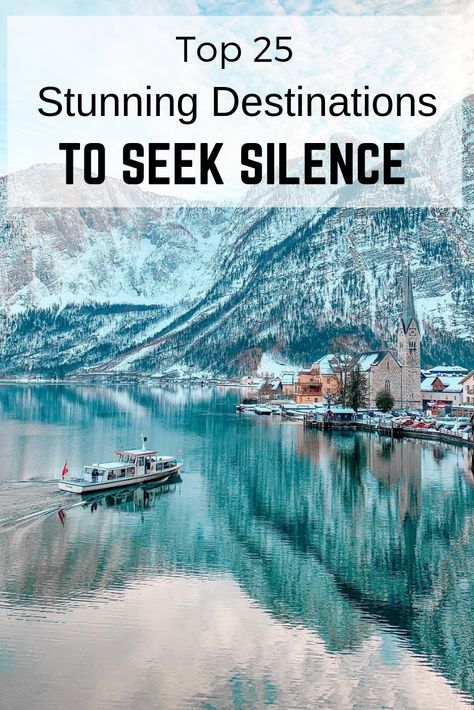 Here're some great pictures on which you will not see crowded streets. They will inspire you to switch off your time-sucking devices, get away from everything and spend some time in solitude and self-discovery.  #travel #silenceplaces #placestoseeksilence #calmplaces #relaxingplaces #nature #beautifulnature #amazingnature #travelinspiration #relaxdestinations