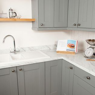 This Calcutta Marble Laminate Worktop Will Suit Both Traditional