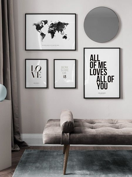 Personalized Wall Art With Custom Text Design Your Own Poster At Desenio Com Personalized Wall Art Diy Gallery Wall Country Wall Art