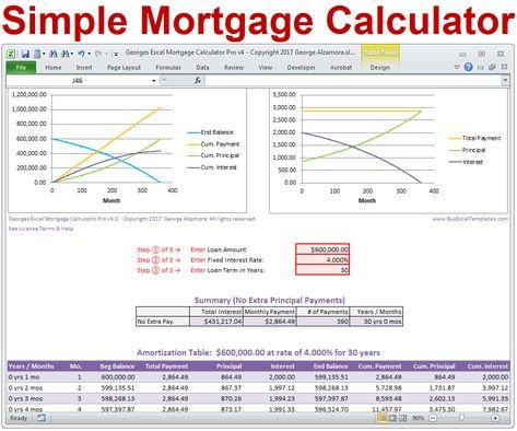 principal payment calculator mortgage