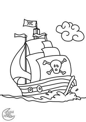 Coloriage Pirate A Colorier Dessin A Imprimer Coloriage Bateau