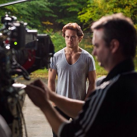 """Outlander Starz Behind the Scenes. Sam Heughan as Jamie Fraser. """"When the legend becomes fact, print the legend."""""""