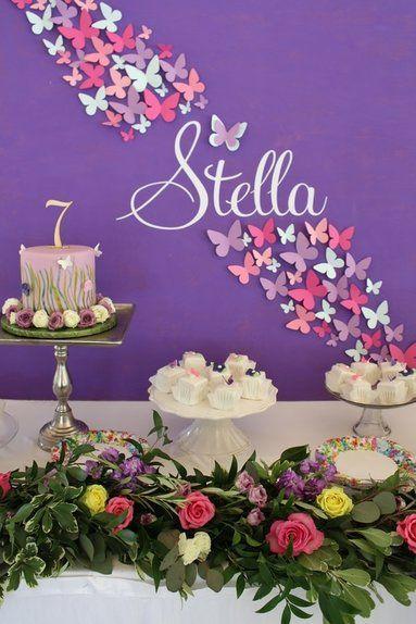 12 Besten Butterfly Birthday Party Bilder Auf Pinterest