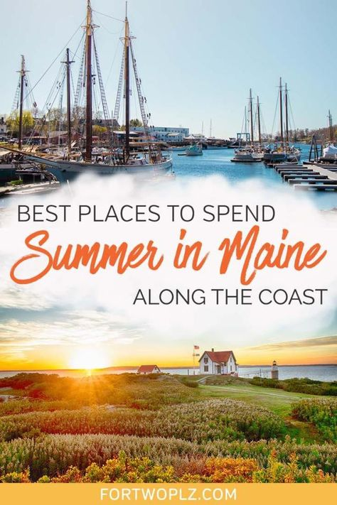 Looking for ideas for your Maine summer vacation? Go off the beaten path and road trip along the Maine coast! Check out some of the prettiest coastal towns in between Portland Maine and Bar Harbor that guarantee a good time. Source by arzotravels vacation Brisbane, Perth, Melbourne, Portland Maine, Usa Travel Guide, Travel Usa, Travel Tips, Travel Hacks, Travel Ideas