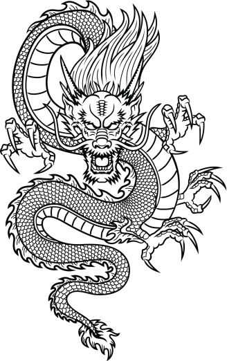 Traditional Asian Dragon This Is Vector Illustration Ideal For A Mascot And Tattoo Or T Shir Asian Dragon Tattoo Japanese Dragon Tattoos Dragon Tattoo Designs